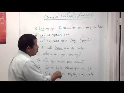 ¿Como se usan los verbos