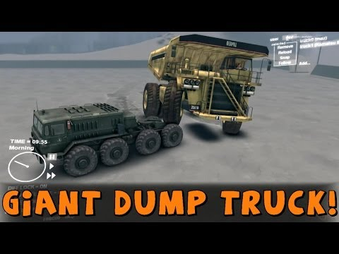 Spin Tires | Mod Review | Giant Dump Truck!