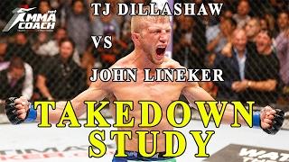 TJ Dillashaw VS John Lineker - takedown study (double leg takedown)
