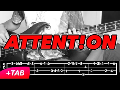Charlie Puth - Attention (BASS COVER +TABS IN VIDEO)