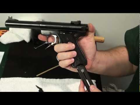 Ruger Mark III field strip reassembly