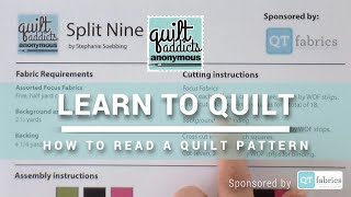 How to Read a Quilt Pattern - FREE Beginner Quilting Videos and Pattern - NO MUSIC VERSION