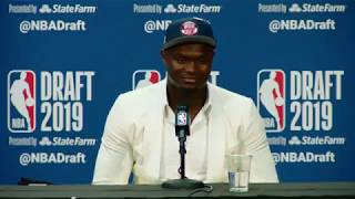 Zion Willamson Press Conference | 2019 NBA Draft