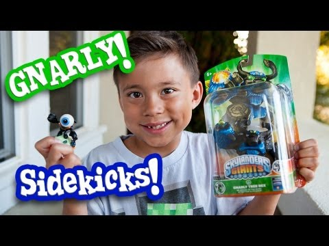 NEW GNARLY TREE REX Packaging. Skylanders Giants SIDEKICKS. EvanTubeHD Behind the Scenes!