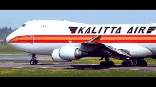 KALITTA AIR B747   Visiting Helsinki Airport   Landing & Takeoff   ATC