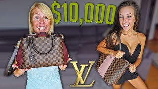 BUYING MY GIRLFRIEND & MOM LOUIS VUITTON BAGS/WALLETS!