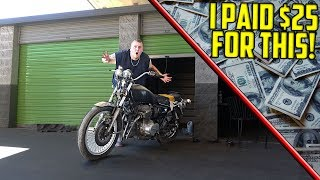 MOTORCYCLE FOUND IN STORAGE UNIT! I Bought An Abandoned Storage Unit And Found A Motorcycle