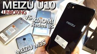 MEIZU U10 - очень красивый смартфон с ALIEXPRESS! Распаковка vs Redmi 3S, Meizu M3S