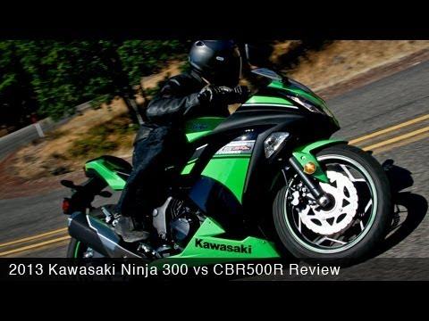 2013 Kawasaki Ninja 300 vs CBR500R Comparison - MotoUSA