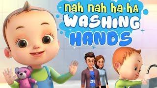 Nah Nah Ha Ha -Washing Hands - Baby Ronnie Rhymes | Videogyan 3D Rhymes | Good Habits Songs For Kids