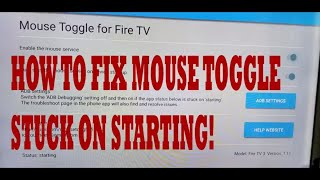 How to Fix Mouse Toggle stuck on STARTING Amazon fire TV Fire Stick