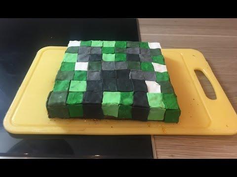Minecraft creeper Kuchen Torte von einfachstephie.de