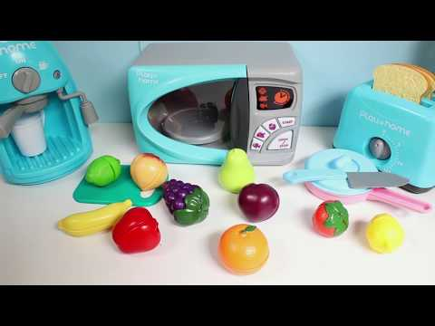 Toy Cutting Fruits Velcro Cooking Playset Kitchen Spielzeug Schneiden von Obst Klett Toy Food