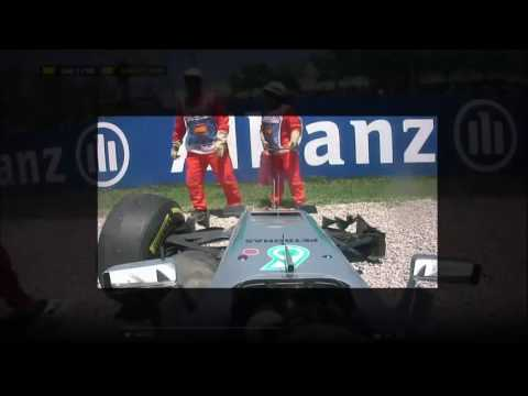 Lewis Hamilton Nico Rosberg Crash GP Spain 2016