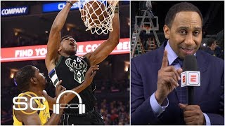 Stephen A.: Warriors 'need Kevin Durant' to beat the Bucks in the NBA Finals | SC with SVP