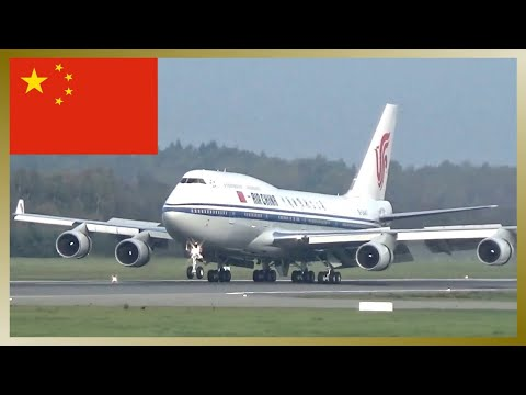 Chinese Prime Minister Li Keqiang landing for Hamburg Summit