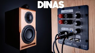 DIY Speaker With Subwoofer Hits Down to 35 Hz! - DINAS - Active Bookshelf Speakers Collab w/ 123Toid