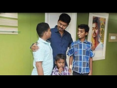 Vijay Fulfills 3 Children Who Are In The Advanced Stage Of Cancer | Hot Tamil Cinema News | Puli video