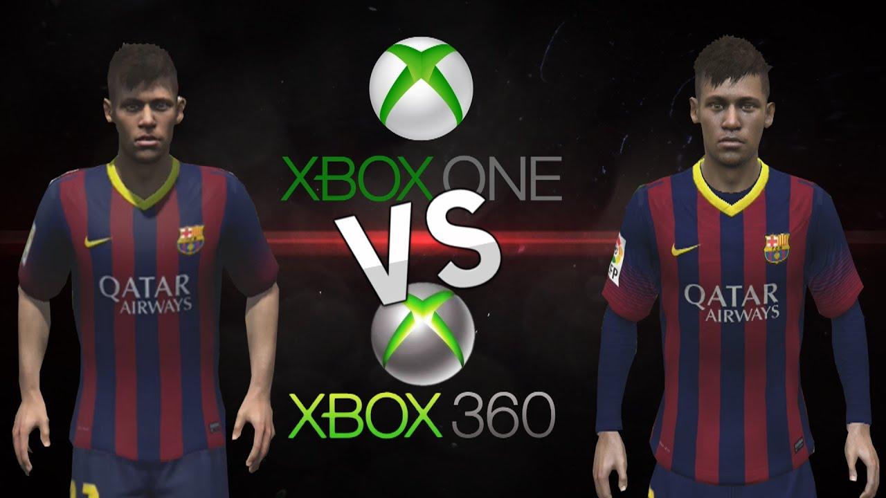 Fifa 14 15 face comparison xbox one vs xbox 360 fc barcelona full