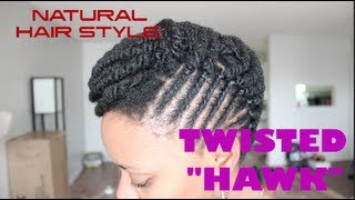 "Natural Hair Style: The Twisted ""Hawk"""