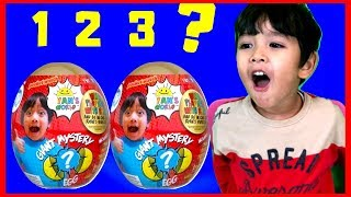 Pretend Play with Ryan's World Mystery Giant Egg How to Count the Numbers