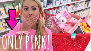 NO BUDGET (PINK ONLY) SHOPPING SPREE!
