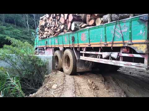 FUSO 380 logging truck