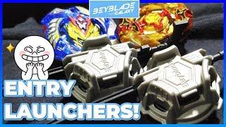 CHO-Z VALKYRIE .Z.Ev vs CHO-Z SPRIGGAN .0W.Zt' - Usando Entry Launchers! - Beyblade Burst ベイブレードバースト