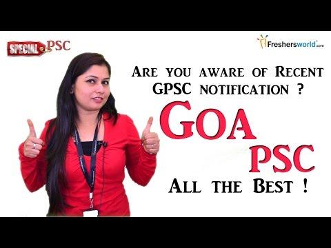 Goa Public Service commission - GPSC 2016 Recruitment & Results
