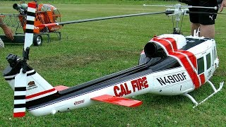BELL UH-1D GIANT RC SCALE MODEL TURBINE HELICOPTER FLIGHT DEMONSTRATION