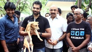 Sathyaraj & Sibiraj at Blue Cross Stray Dog Adoption Drive