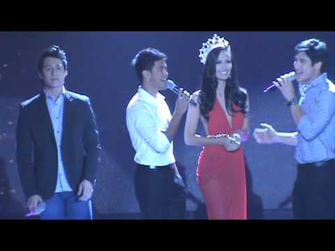 Miss World 2013 Meagan Young with Enrique Gil