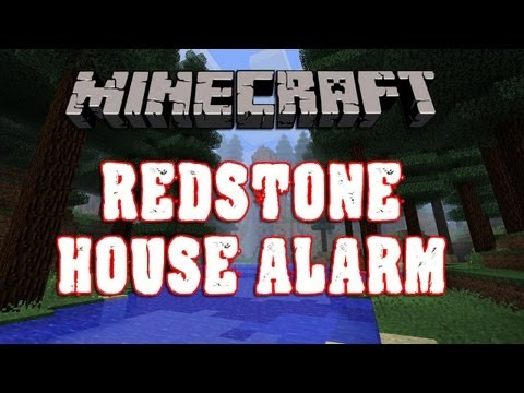 #MINECRAFT 1.6.1 Redstone House Alarm TUTORIAL