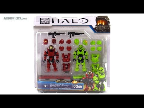 Mega Bloks Halo Spartan Customizer Pack review! Venom & Crimson