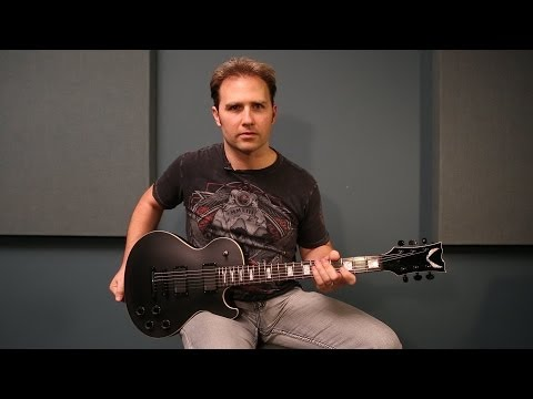 Dean Guitars Product Demo: Dean Thoroughbred Stealth Black Satin w/ EMG pickups!