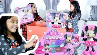 UNBOXING MINNIE MOUSE SPARKLE N SPIN FASHION BOWTIQUE + BLOOMIN