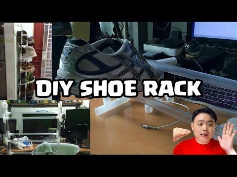 AWESOME DIY PVC Shoe Rack