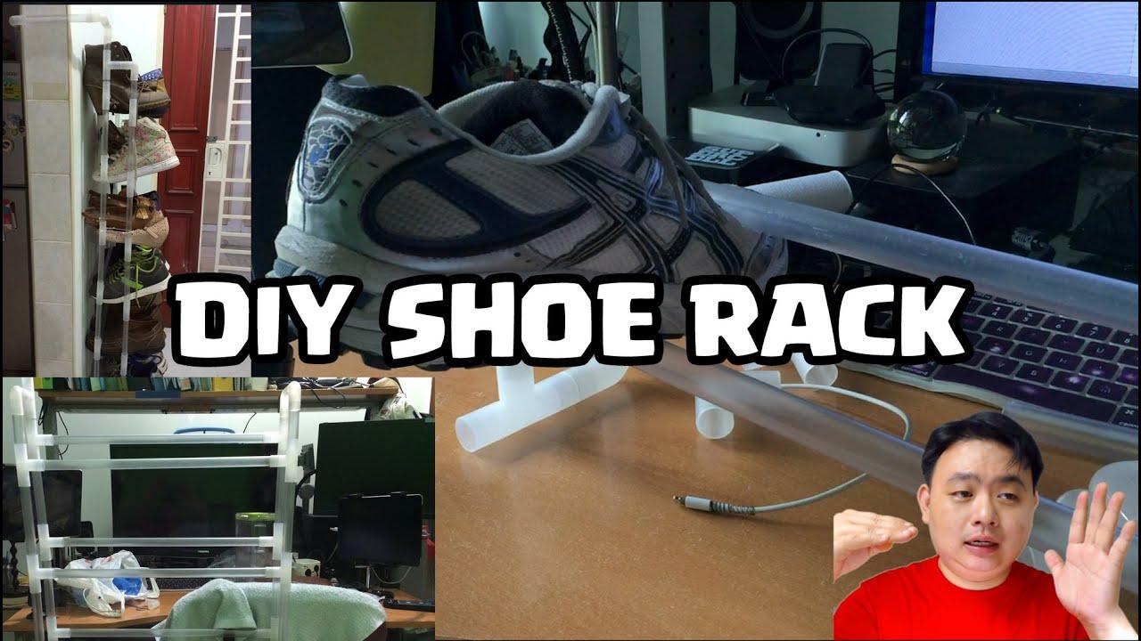 Diy Pipe Shoe Rack Awesome Diy Pvc Shoe Rack