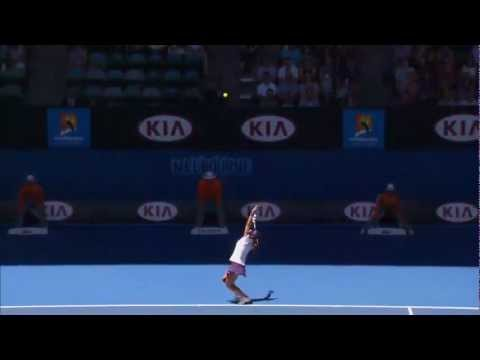 Li Na's Serve Shocker - Australian Open 2013