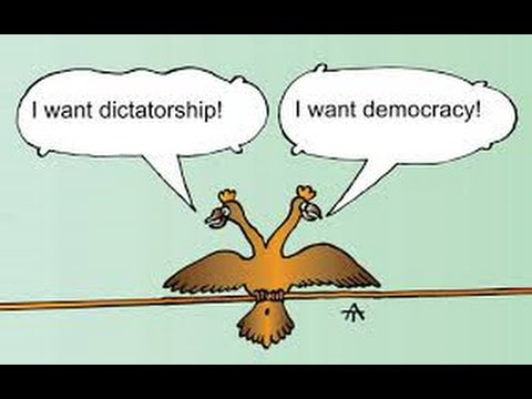 strong dictatorship vs weak democracy