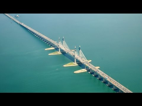 Longest bridge in Southeast Asia nearly ready for use in Penang, Malaysia