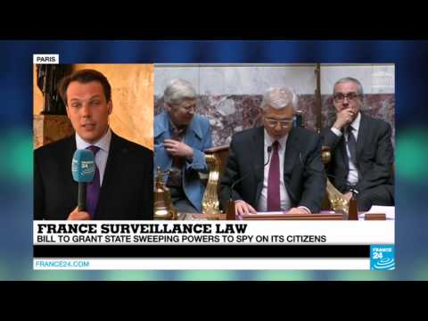 "Subscribe to France 24 now: http://f24.my/youtubeEN FRANCE 24 live news stream: all the latest news 24/7 http://f24.my/YTliveEN  French lawmakers are set to approve a new law Tuesday granting the state sweeping surveillance powers, despite criticism from civil society groups that have dubbed the bill ""the French Patriot Act"".  Visit our website: http://www.france24.com Like us on Facebook: https://www.facebook.com/FRANCE24.English Follow us on Twitter: https://twitter.com/France24_en"