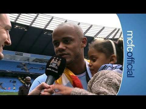 KOMPANY & DAUGHTER ON TITLE | City v West Ham Champions 2014