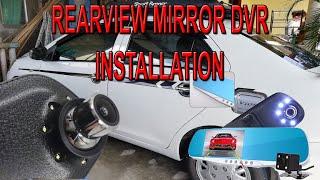 HOW TO: Install Car Rearview mirror / DVR / Blackbox / Dashcam