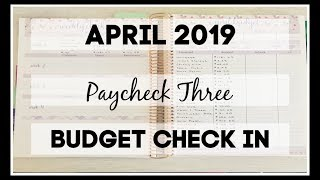 Paycheck Three Check In | April 2019 | Erin Condren Deluxe Monthly Planner |