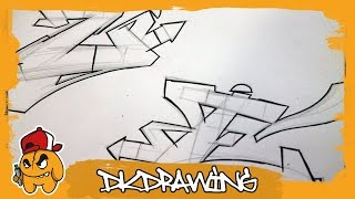 How to draw graffiti wildstyle letters - first steps for beginner