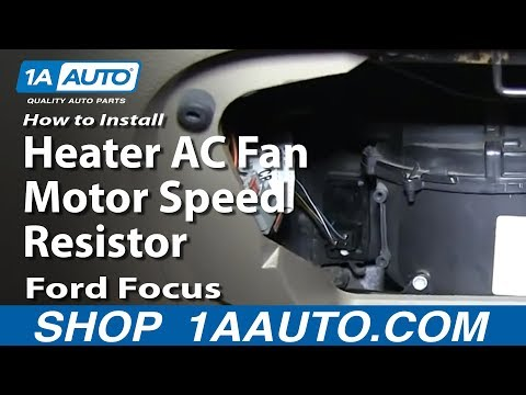 How To Install Fix Heater AC Fan Motor Speed Resistor 2000-07 Ford Focus