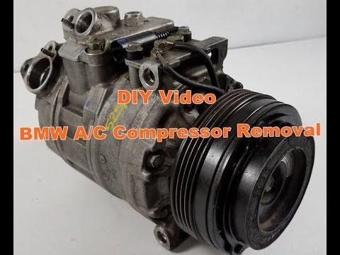 Bmw air conditioner compressor Removal 330 325 323 e46