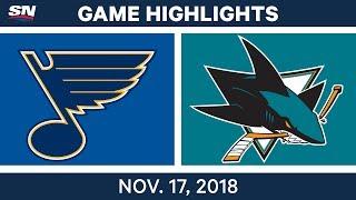 NHL Highlights   Blues vs. Sharks – Nov. 17, 2018