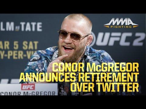 Conor McGregor Announces Retirement Over Twitter